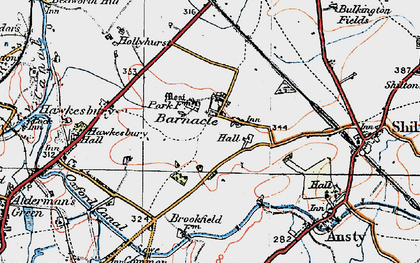 Old map of Barnacle in 1920