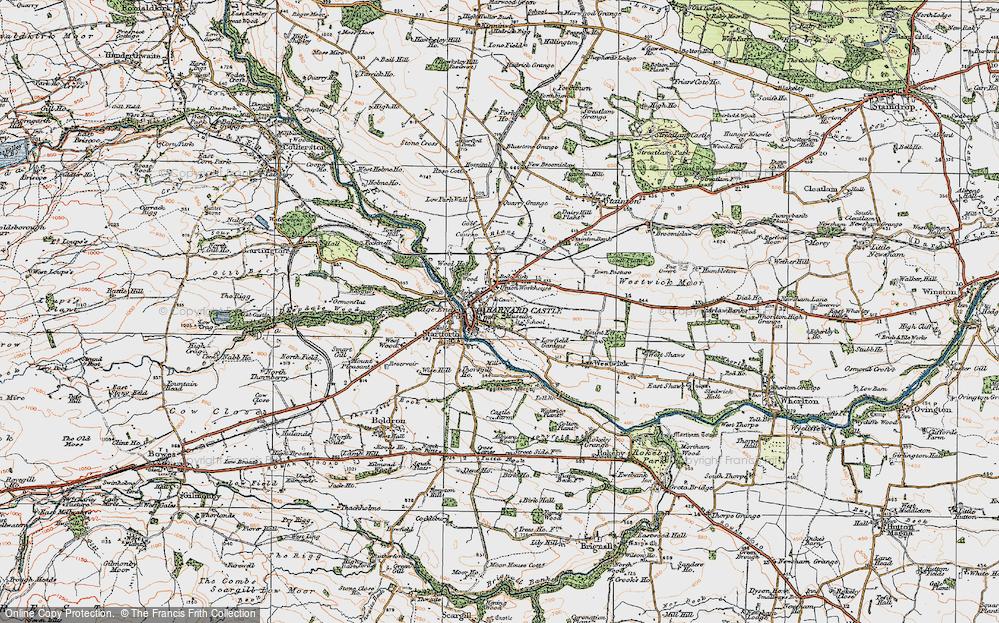 Old Map of Barnard Castle, 1925 in 1925