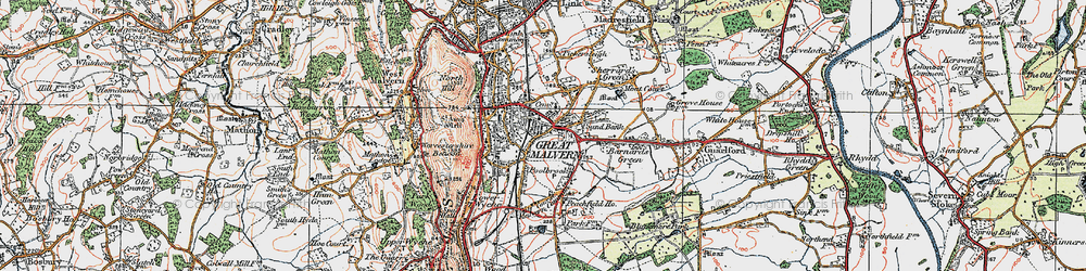Old map of Barnard's Green in 1920