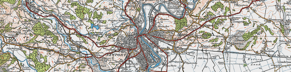 Old map of Barnardtown in 1919