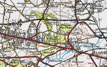 Old map of Barnehurst in 1920