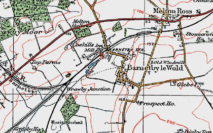 Old map of Barnetby le Wold in 1923