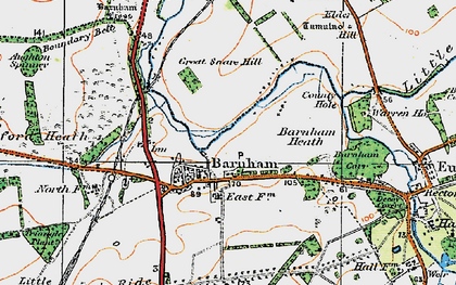Old map of Aughton Spinney in 1920