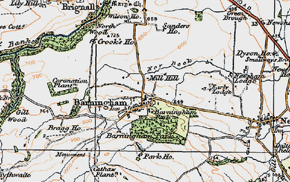 Old map of Barningham in 1925