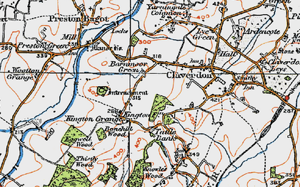 Old map of Barnmoor Green in 1919