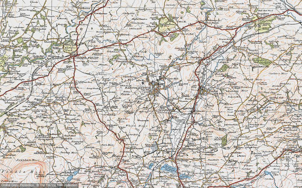 Old Map of Barnoldswick, 1924 in 1924