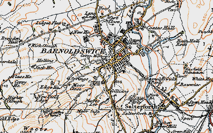 Old map of Barnoldswick in 1924
