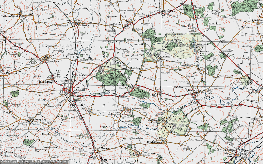 Old Map of Barnsdale, 1921 in 1921