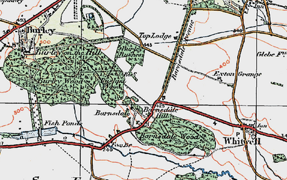 Old map of Barnsdale in 1921