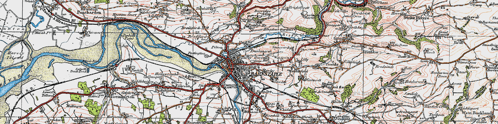 Old map of Barnstaple in 1919