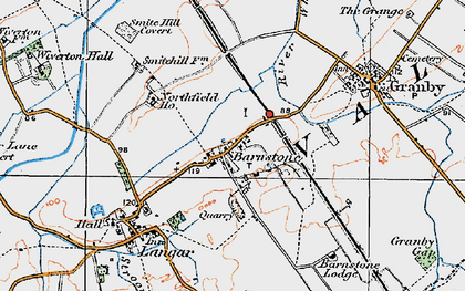 Old map of Whatton Fields in 1921