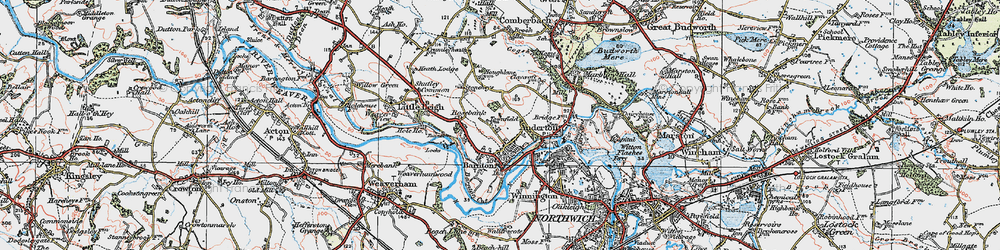 Old map of Barnton in 1923