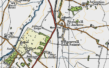Old map of Barnwell in 1920