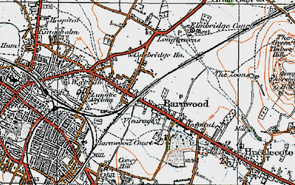 Old map of Barnwood in 1919