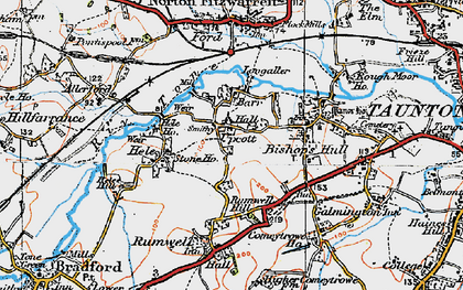Old map of Barr in 1919