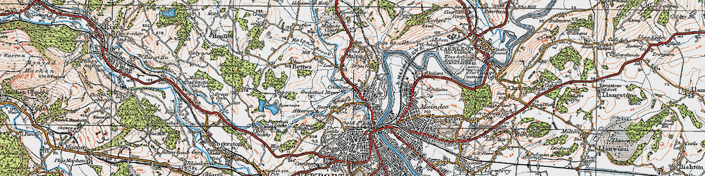 Old map of Barrack Hill in 1919