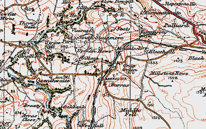 Old map of Woofergill in 1925