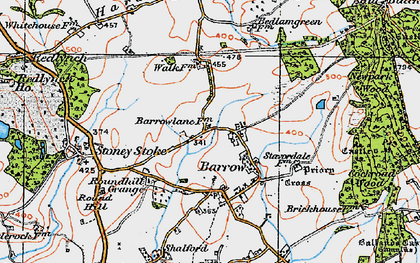 Old map of Barrow in 1919