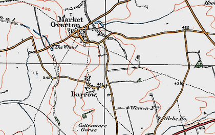 Old map of Barrow in 1921