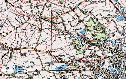Old map of Barrow Bridge in 1924