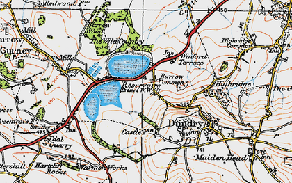 Old map of Barrow Common in 1919