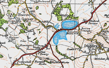 Old map of Barrow Gurney in 1919