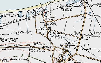 Old map of Barrow Haven in 1924