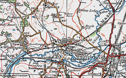 Old map of Barrow Hill in 1923
