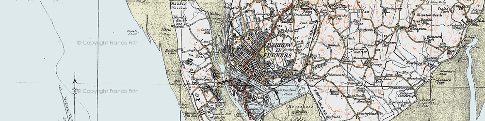 Old map of Barrow-In-Furness in 1924
