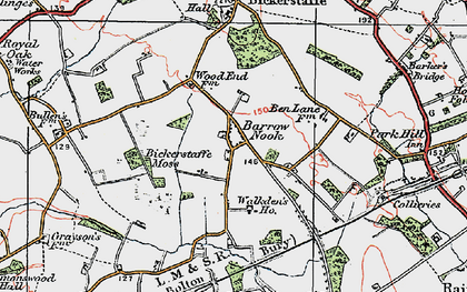 Old map of Barrow Nook in 1923