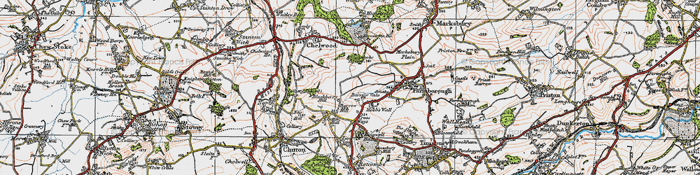 Old map of Whidcombe Brake in 1919