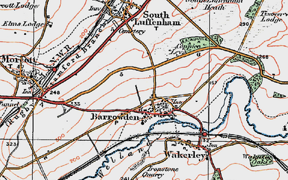 Old map of Barrowden in 1922