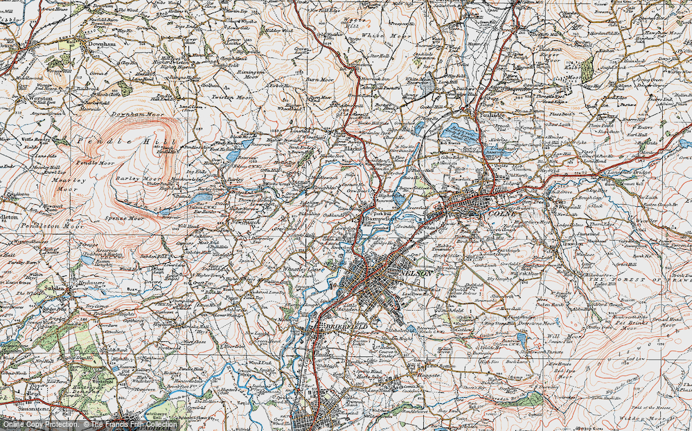 Old Map of Barrowford, 1924 in 1924