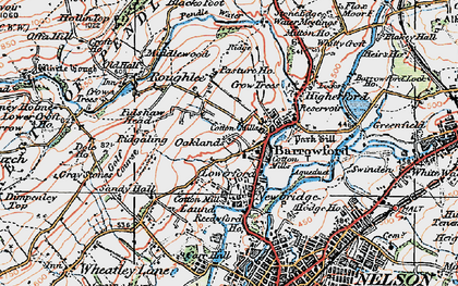 Old map of Barrowford in 1924