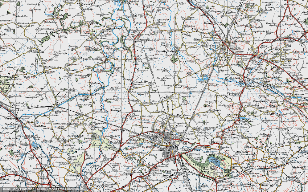 Old Map of Historic Map covering Leighton Lodge in 1923