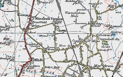 Old map of Leighton Lodge in 1923