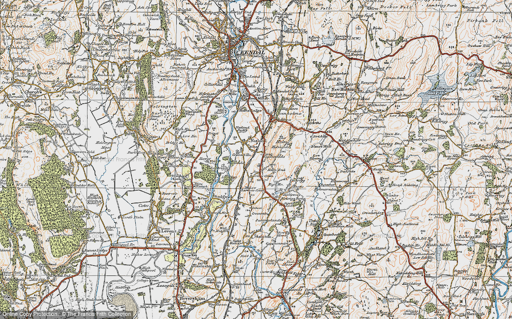 Old Map of Historic Map covering Larkrigg in 1925