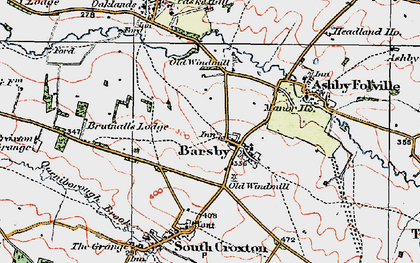 Old map of Barsby in 1921