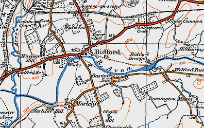 Old map of Barton in 1919