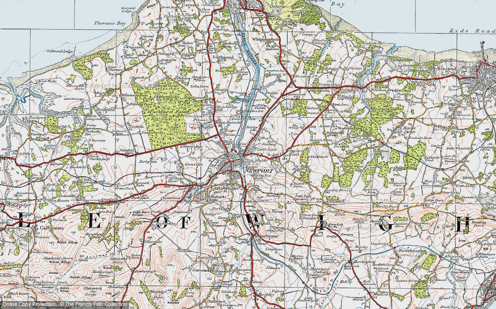 Old Map of Barton, 1919 in 1919