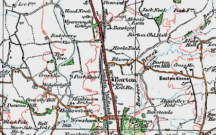 Old map of Barton in 1924