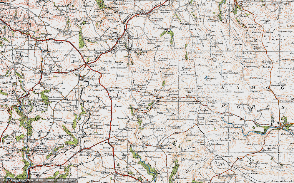 Old Map of Historic Map covering Yelland Cross in 1919