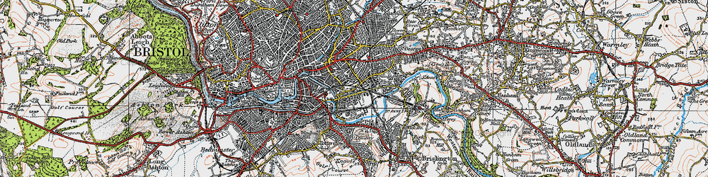 Old map of Barton Hill in 1919