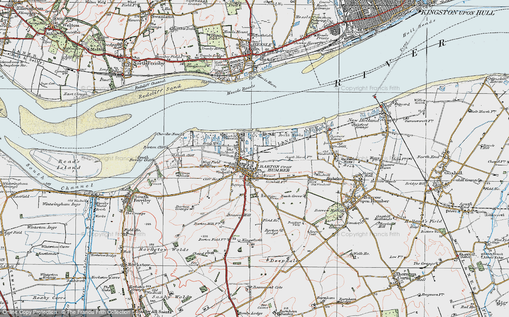 Old Map of Barton-Upon-Humber, 1924 in 1924