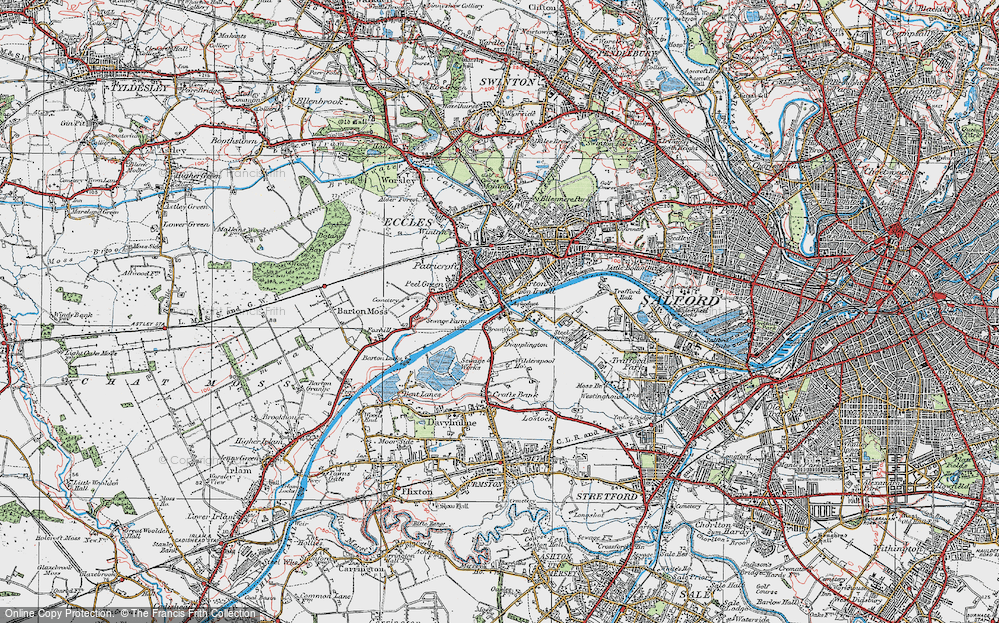 Old Map of Barton Upon Irwell, 1924 in 1924