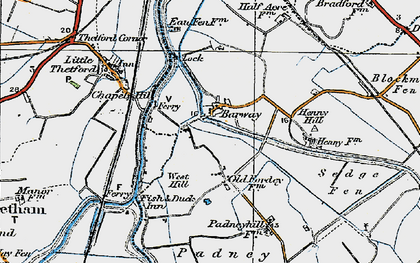 Old map of Barway in 1920