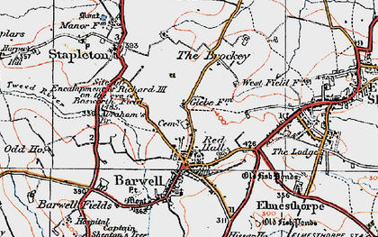 Old map of Barwell in 1921
