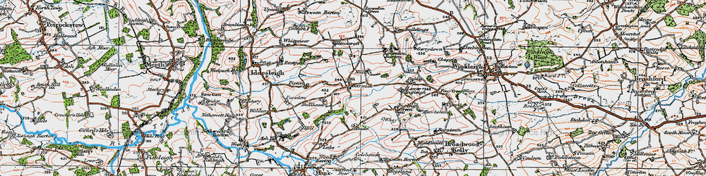 Old map of Barwick in 1919