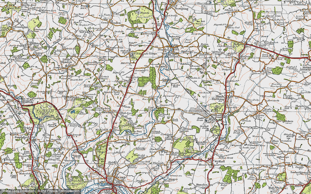 Old Map of Barwick, 1919 in 1919