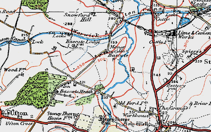 Old map of Bascote in 1919